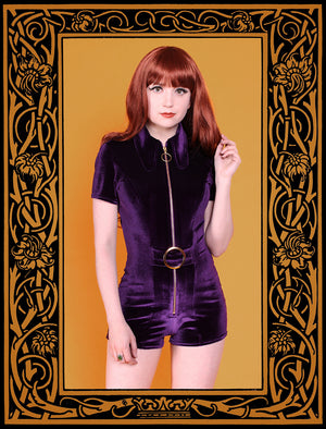 The SOLARIS Playsuit - Amethyst Centre