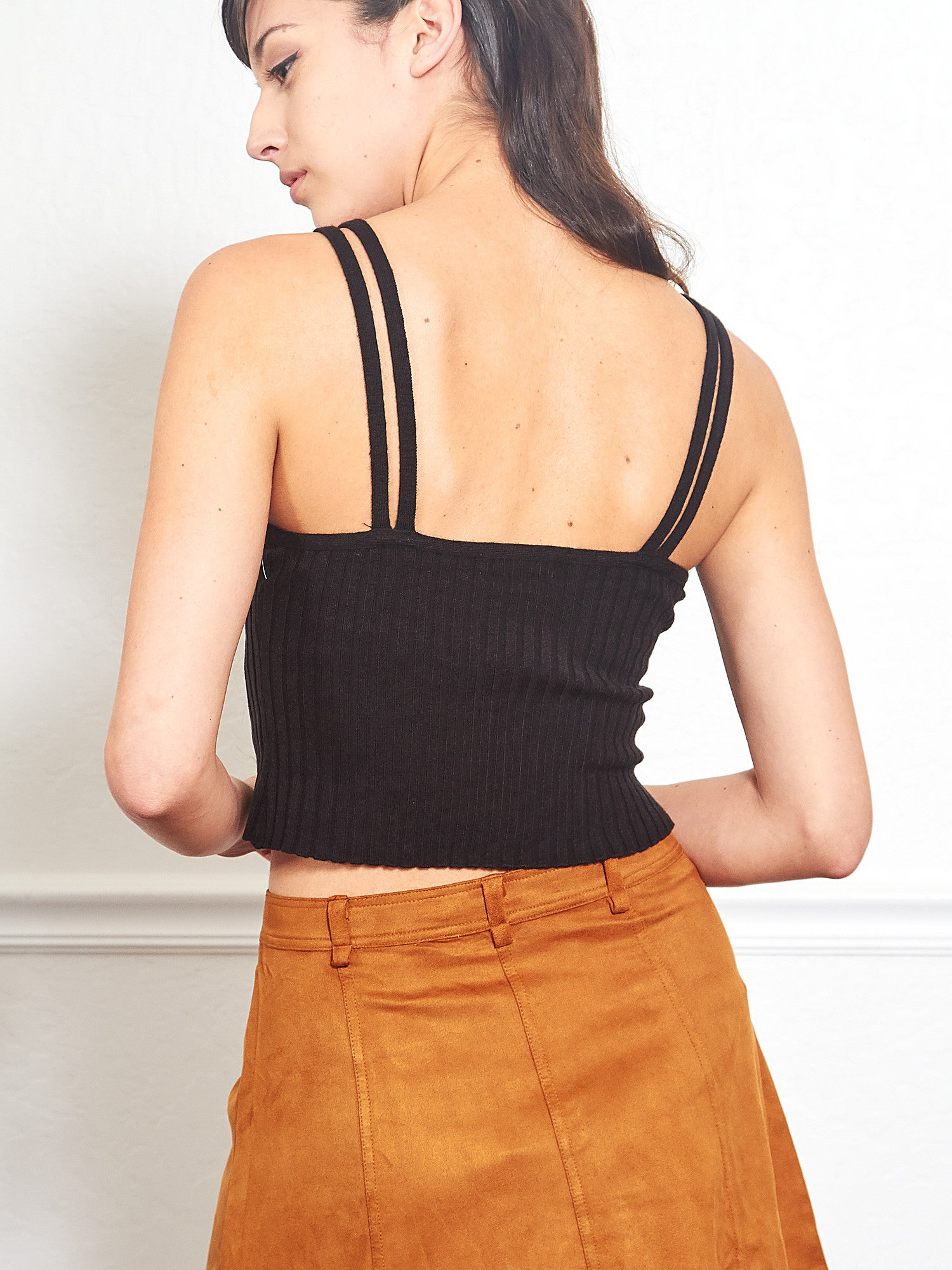 aa4100879c1d3 Fitted Crop Tank Top in Black – Shop Ulala