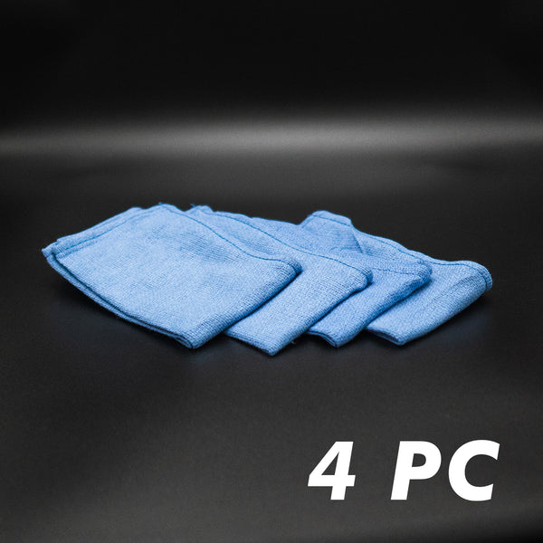 BLUE WINDOW CLEANING TOWELS - 4 PACK