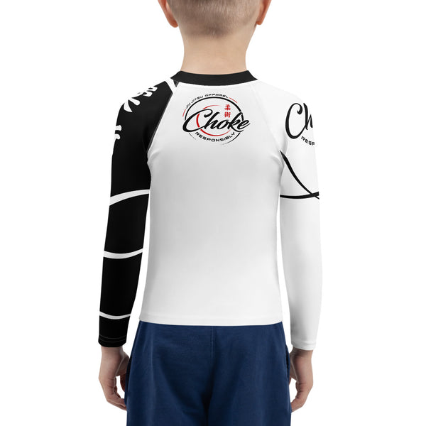 kids grappling rash guard