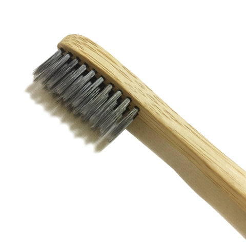 Natural Toothbrush with Charcoal Fibre Bristles - LiveCoco