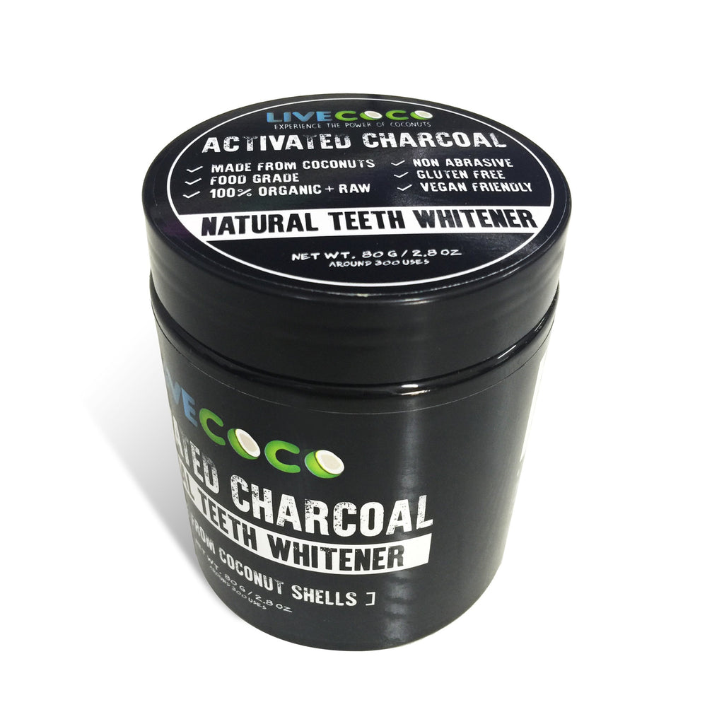 Activated Charcoal Powder (made from Coconut Shells) (300 uses) - LiveCoco