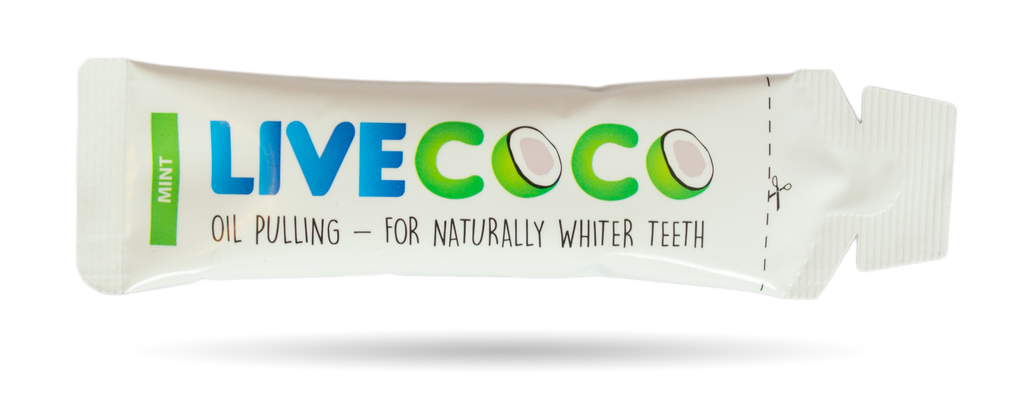LiveCoco Mint Coconut Oil Pulling Kit-14 Day Course