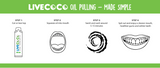 BEST VALUE - Couples Pack - Coconut Oil Pulling Kit - 2 x 6 Week Course - LiveCoco