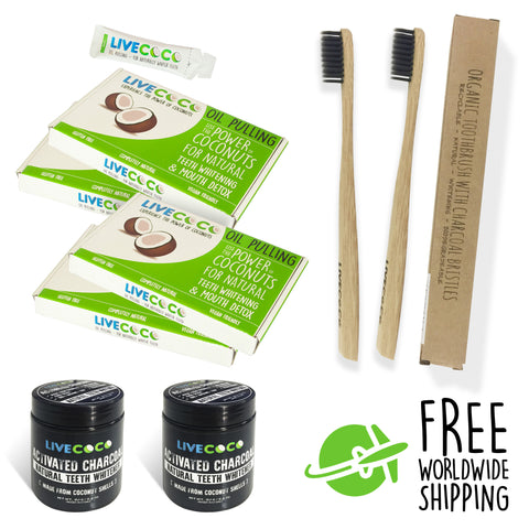 Twin Pack - Ultimate Natural Teeth Whitening Kit - LiveCoco