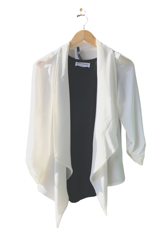 Everyday Stretch Tuxedo Blazer - White