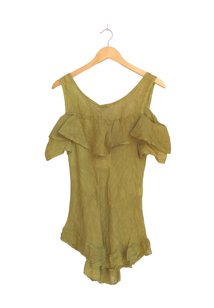 Italian Sleeveless Tops - Taupe (One Size)