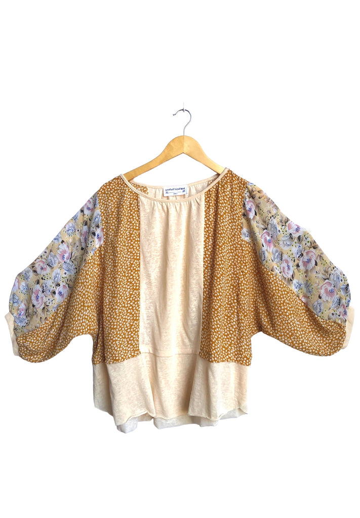 Midsummer Floral Top - Oatmeal