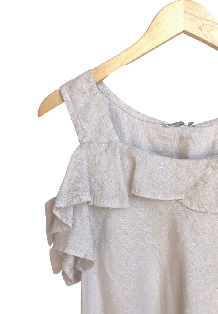 Italian Sleeveless Tops - Beige (One Size)