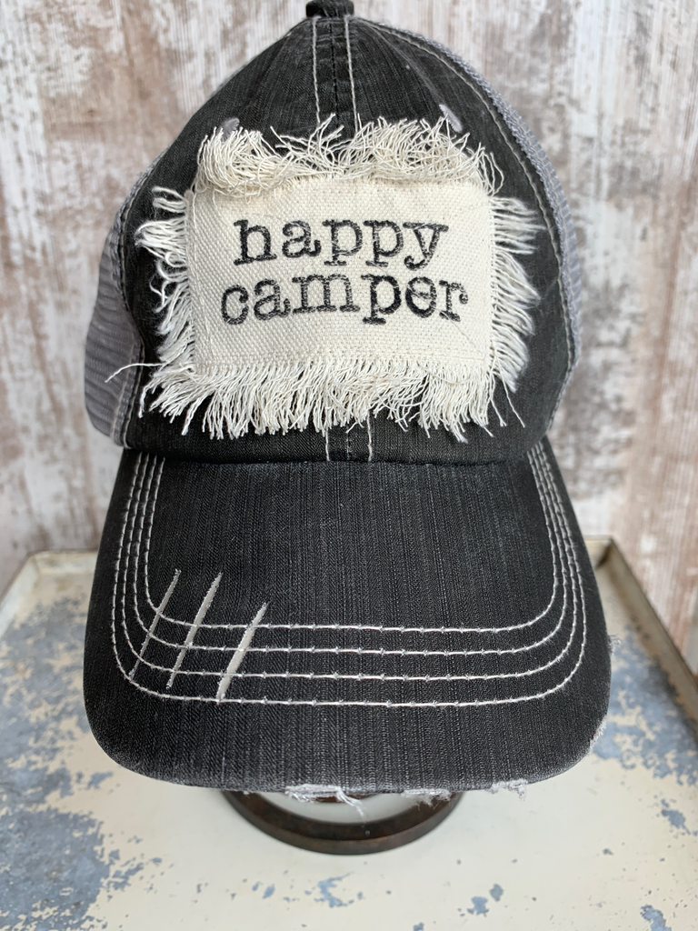 Happy Camper Hat - Gray/Mesh
