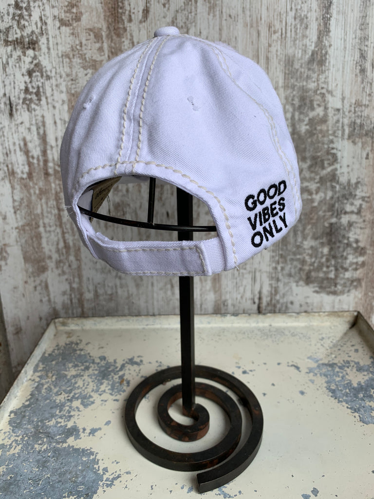Good Vibes Only Hat - White