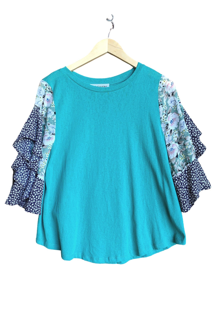 Ocean Breeze Flutter Top