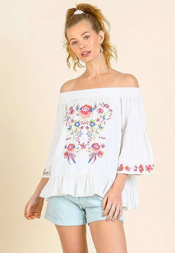 Embroidery Petal Blouse