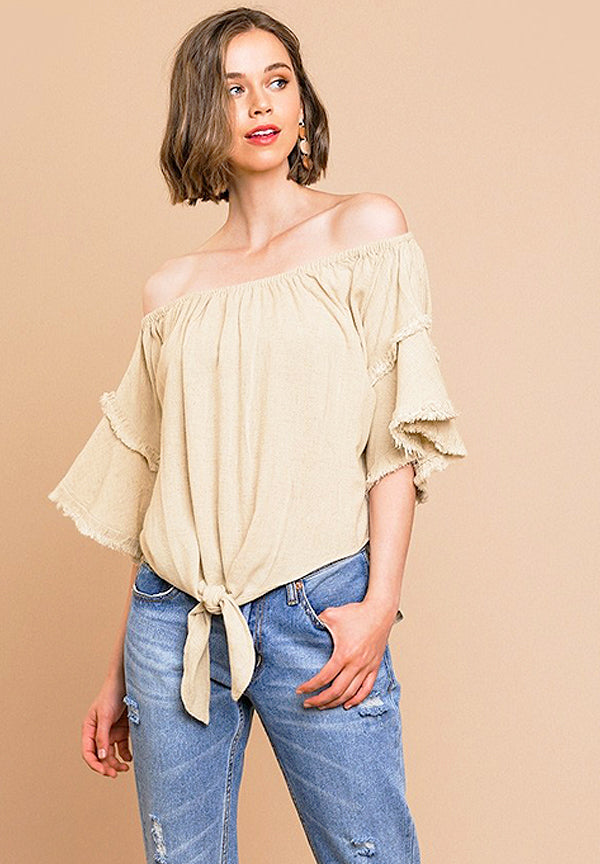 Rustic Distressed Bo-Ho Top