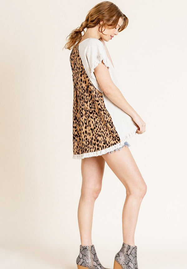 Leopard Back Top