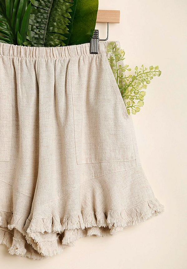 #1 Seller Uptown/Downtown Frayed Shorts - Oatmeal