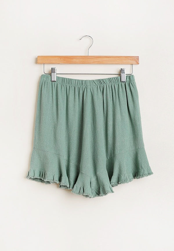 #1 Seller Uptown/Downtown Frayed Shorts - Green