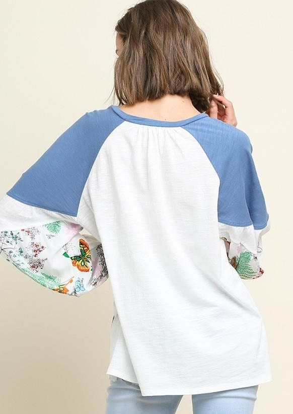 Floral Sleeve Pull Over