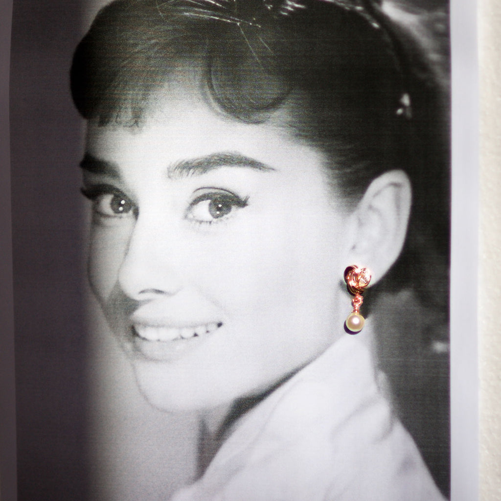 Audrey Helpburn with the Atlantis Earrings