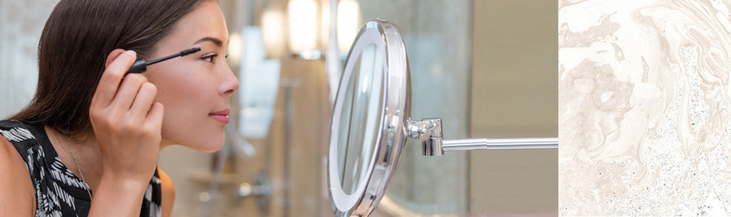 Magnified and Lighted Mirrors