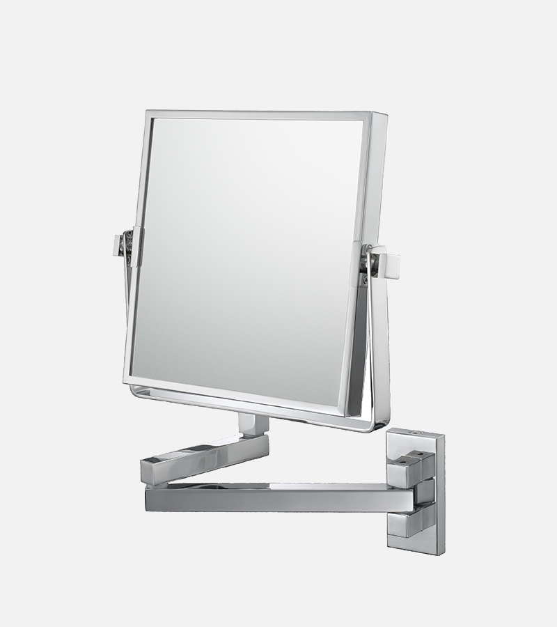 THE GENEVIEVE - 3x/1x Magnified Double Arm Square Wall Mirror
