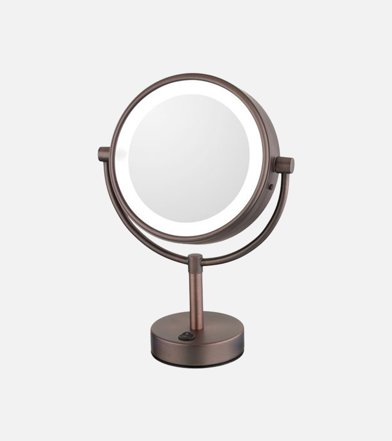 THE BLANCHE - LED Lighted 5x/1x Magnified Freestanding Mirror