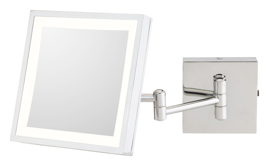 THE ANNE - Single-Sided LED Square Wall Mirror - Rechargeable
