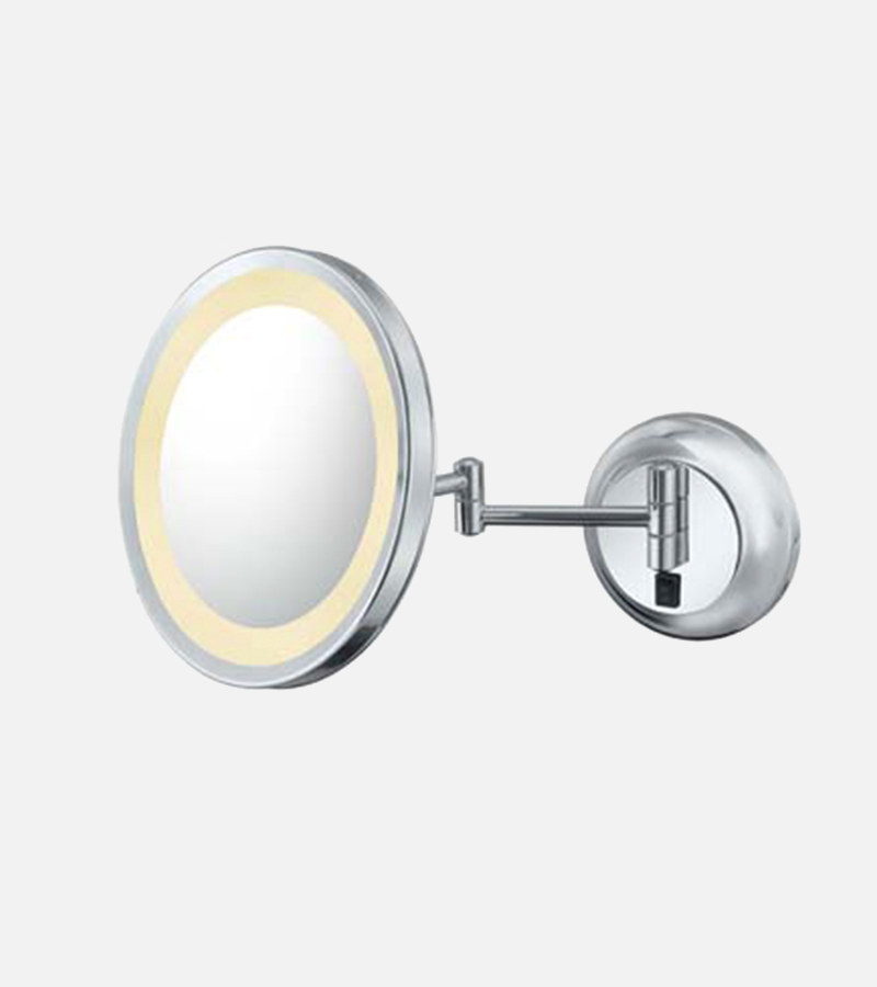 THE JOAN - LED Lighted 5x Magnified Single-Sided Wall Mirror