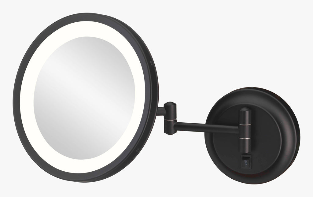 LED Lighted 5x Magnified Single-Sided Wall Mirror - THE JOAN