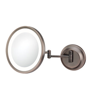 Round LED Lighted 5x Magnified Single-Sided Wall Mirror - THE JOANIE