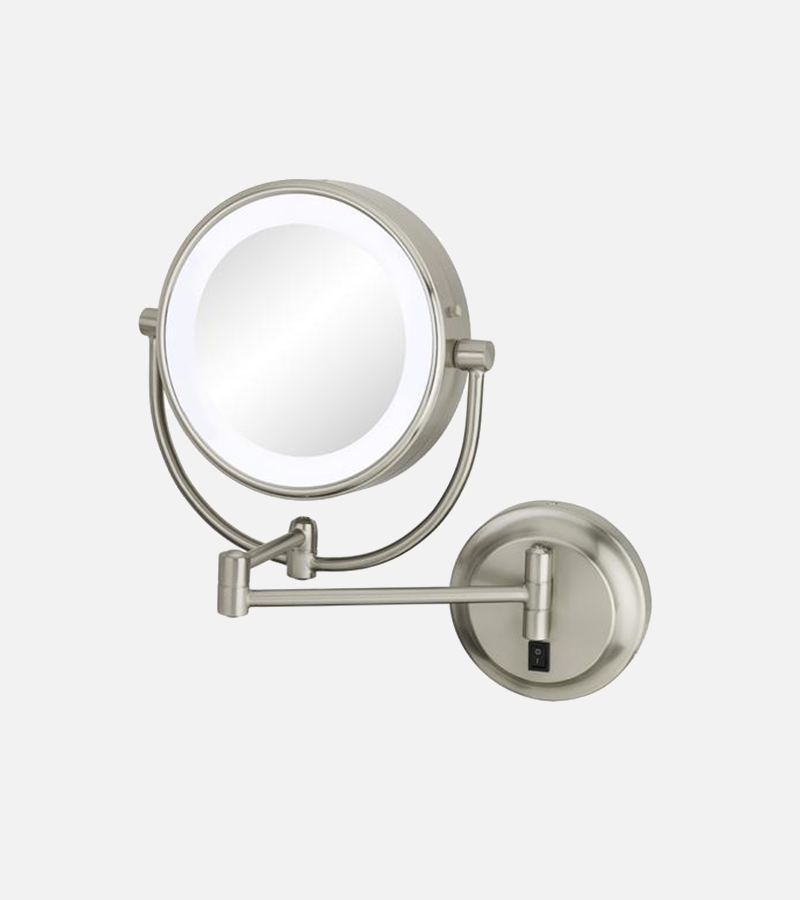 THE MERYL - LED Lighted 5x/1x Magnified Arm Wall Mirror