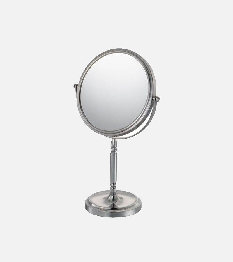 THE MARLENE - 5x/1x Magnified Recessed Base Freestanding Mirror