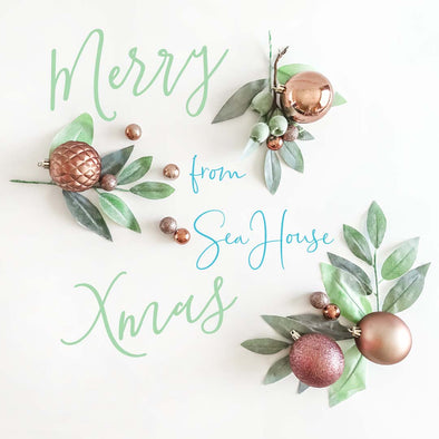 Merry Christmas Baubles and Greenery from SeaHouse Imagery
