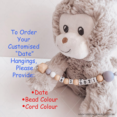 Monkey with Numbers for Customised Date Key Rings for blog Article