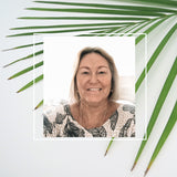 Image of Deb in Palm for Blog Article