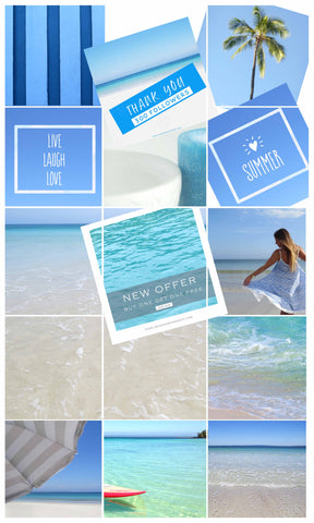 Blog Accross The Grid Collage Style for IG Layout Blues