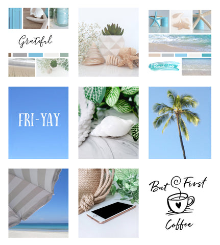 Blog Thick White Borders Style for IG Layout