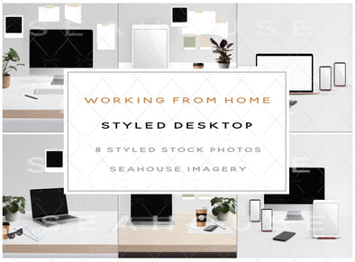 Stock Photos Bundle Working From Home Styled Desktop Product Main Image