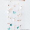 2 Craft 3437 Coastal Shell Mobile Wall Hanging Creations 3436 Blue Hearts Scallop & Swirl Shells Driftwood Varnished Beads 31cm Wide x 84cm Height