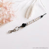 "Craft Hanging Creations 3793 ""Courage"" Key Ring Natural Wooden Letters Black & Grey Beads 20cm"