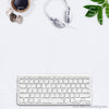 EXCLUSIVE USE 5 WM 2 Flatlay Keyboard Expresso Coffee Macarons x3 Greenery Headphones Square