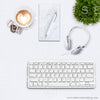 EXCLUSIVE USE 7 WM 3 Flatlay Keyboard Heart Coffee Macarons Greenery Notepad Pen Square