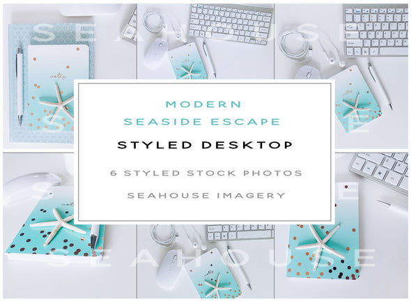 WM EXCLUSIVE USE Bundle - Seaside Escape Modern Styled Desktop