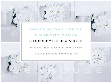 WM Bundle Image - Lifestyle White Hydrageas & Dreamy Props
