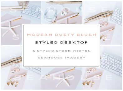 WM Bundle Image - Modern Dusty Blush Styled Desktop