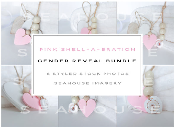 WM EXCLUSIVE USE Bundle Main Image - Pink Shell-A-Bration Gender Reveal Bundle