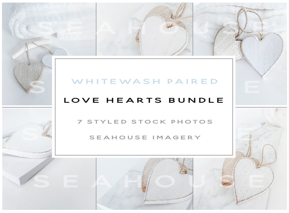 WM Bundle Main Image Whitewash Paired Love Hearts Bundle