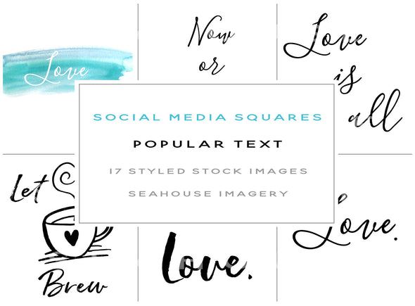 WM EXCLUSIVE USE Bundle - Text Only Social Media Images