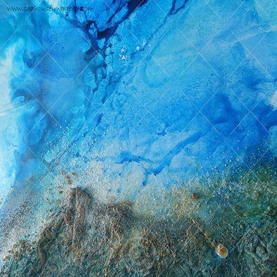 WM Background Backdrops Abstract Blue Green Sea Treasures 7370 Square Size