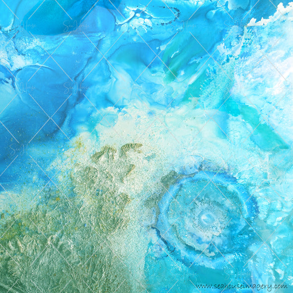 WM EXCLUSIVE USE Background Backdrops Abstract Under the Sea Blues 7368 Square Size